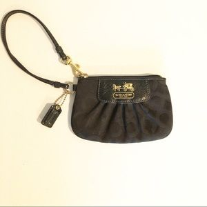 Authentic Coach Black Wallet Wristlet